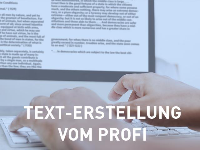 Motiv: Texterstellung